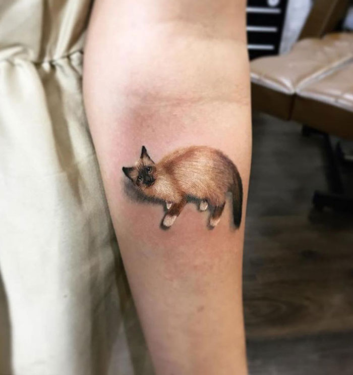 8b3b32f66 #5 Amazing Cat Tattoo. It's An Awesome Work, It Pops Off The Skin