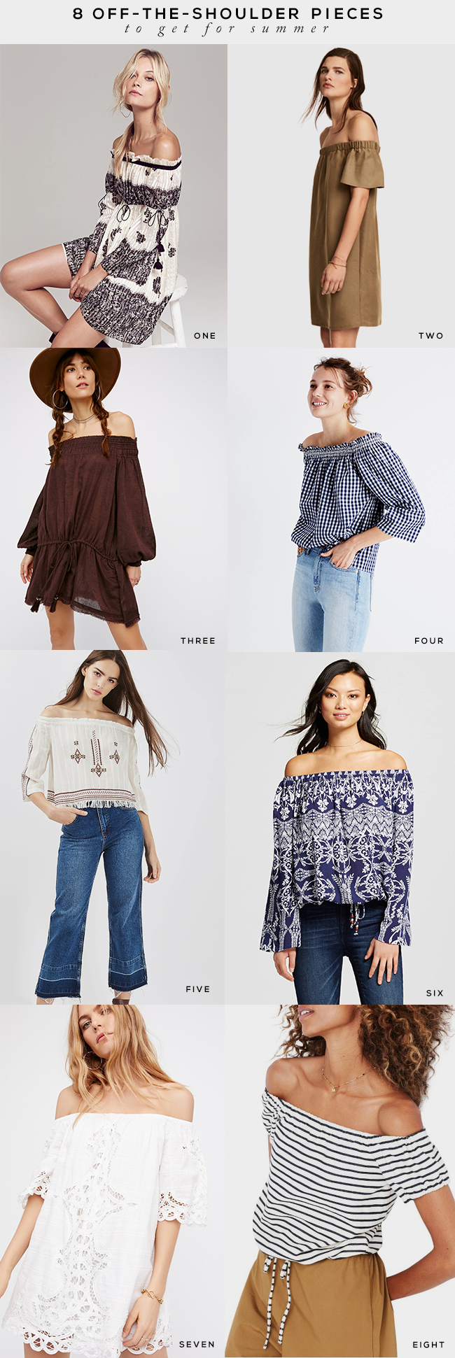 8 Off-The-Shoulder Pieces To Get For Summer