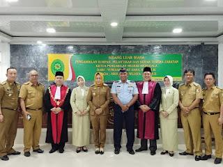 Bupati Tulangbawang Hadiri Pelantikan Serah Terima Jabatan Ketua Pengadilan Negeri Menggala