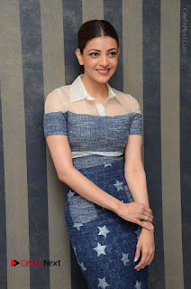 Actress Kajal Agarwal Latest Stills at Khaidi No 150 Movie Interview  0087.JPG