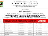 """Info Terbaru dari BKD Provinsi Sumbar - Yang Ujian Besok """"Jadwal Direvisi"""""""