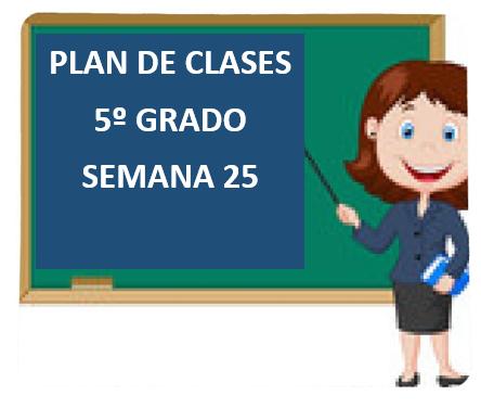 """PLAN DE CLASES A DISTANCIA 5º GRADO PRIMARIA """"SEMANA 25"""" DEL LUNES  01 AL VIERNES 05  DE MARZO DEL 2021"""