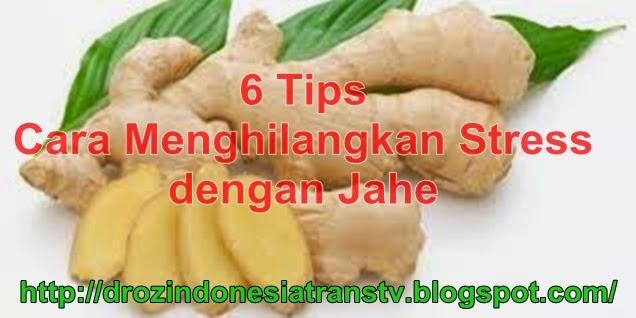 Dr. OZ Indonesia: 6 Tips Cara Menghilangkan Stress dengan Jahe