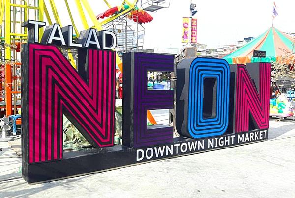Talad Neon Night Market Bangkok
