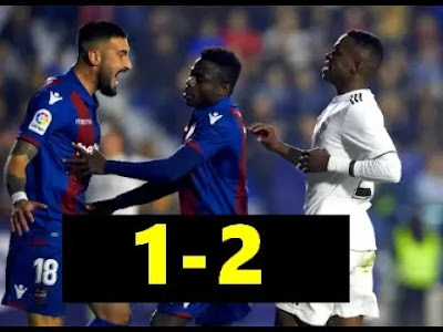 Levante vs Real Madrid 1-2 Football Highlights and Goals 25/02/2019