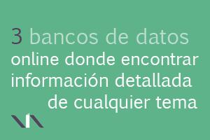 3 bancos de datos para recabar información específica de cualquier área del conocimiento