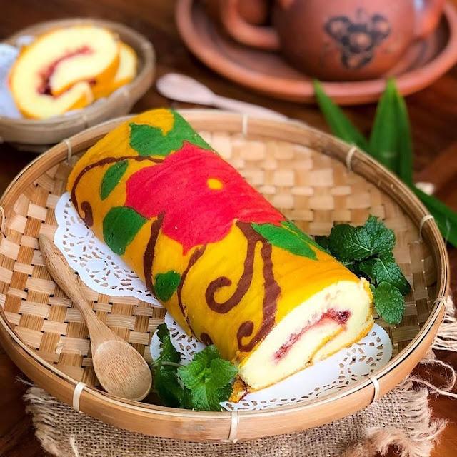 Resep Sajian Bolu Gulung Batik Cantik (Bebas Gula)