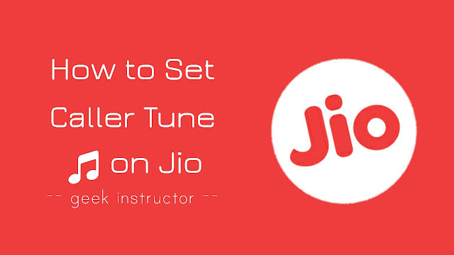 Set caller tune on Jio