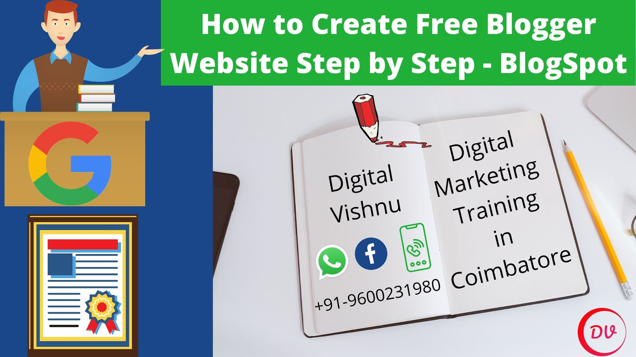 How to Create Free Blogger Website Step by Step - Blog Spot