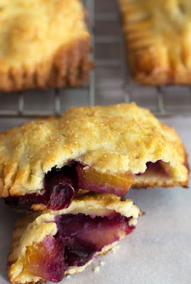 Featured Recipe // Blueberry Peach Hand Pies from Mother Would Know #SecretRecipeClub #handpies #recipe #dessert