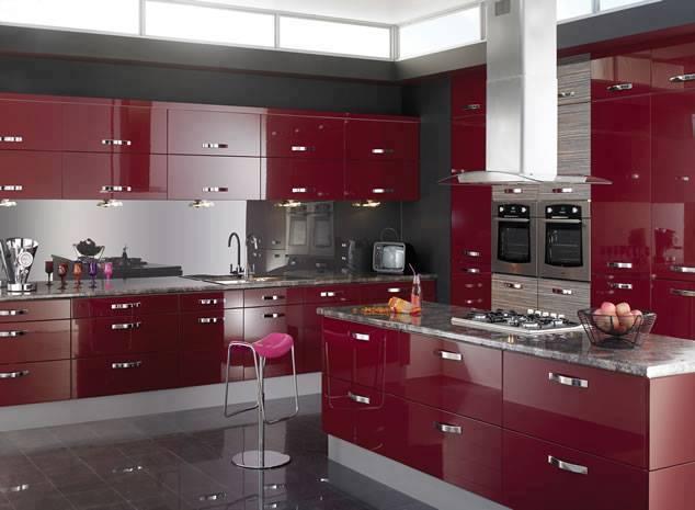 Kitchen cabinet finish is sticky - Construindo Minha Casa Clean Cozinhas Vermelhas Lindas