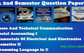 BCA 2nd Semester Question Papers Pdf