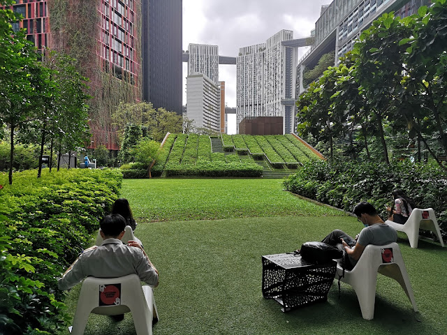 garden outside Tanjong Pagar MRT