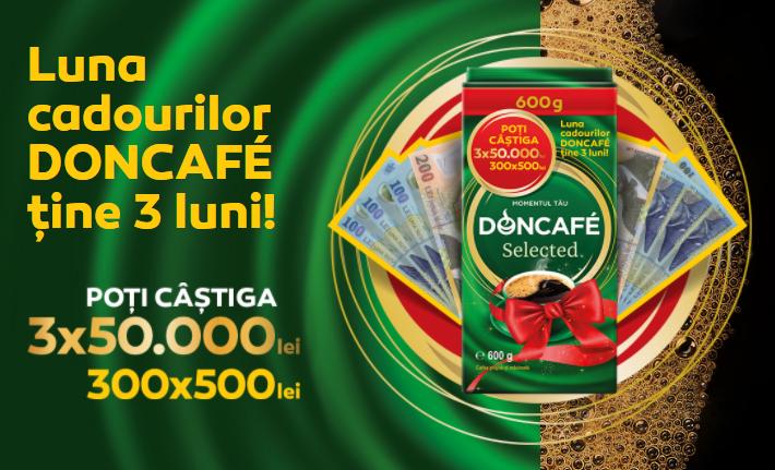 Concurs - Castiga cu Doncafe 50.000 de lei - promotie - bani - concursuri - online