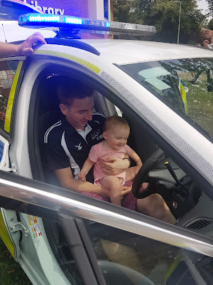 Daddy and Daughter Driving A Police Car autistic and pregnant autistic mum life sharing pregnancy and parenting experiences from the autism spectrum