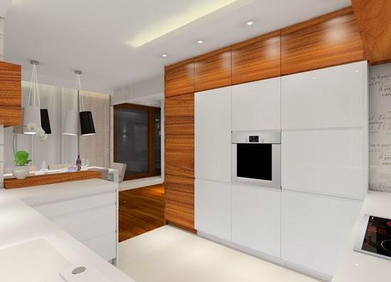 marcoot design nowoczesne wnętrza � drewno w kuchni