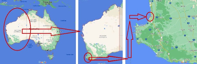 Bunbury Western Australia map