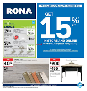 Rona Flyer April 20 – 26, 2017