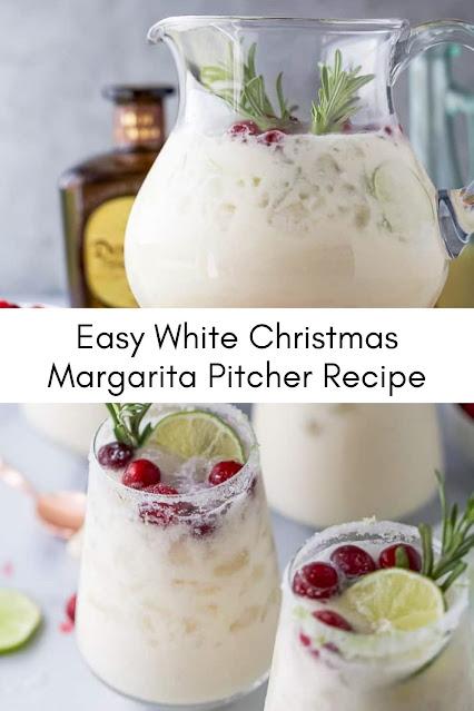 Easy White Christmas Margarita Pitcher Recipe