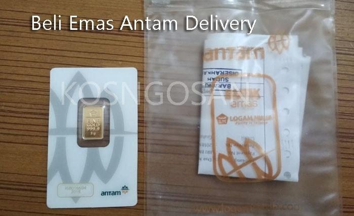 Membeli emas ANTAM Logam Mulia delivery order secara online dengan aman