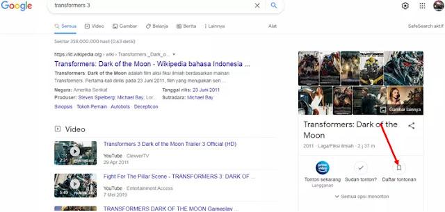 Cara Membuat Daftar Tontonan Film Sendiri Menggunakan Google Penelusuran-1