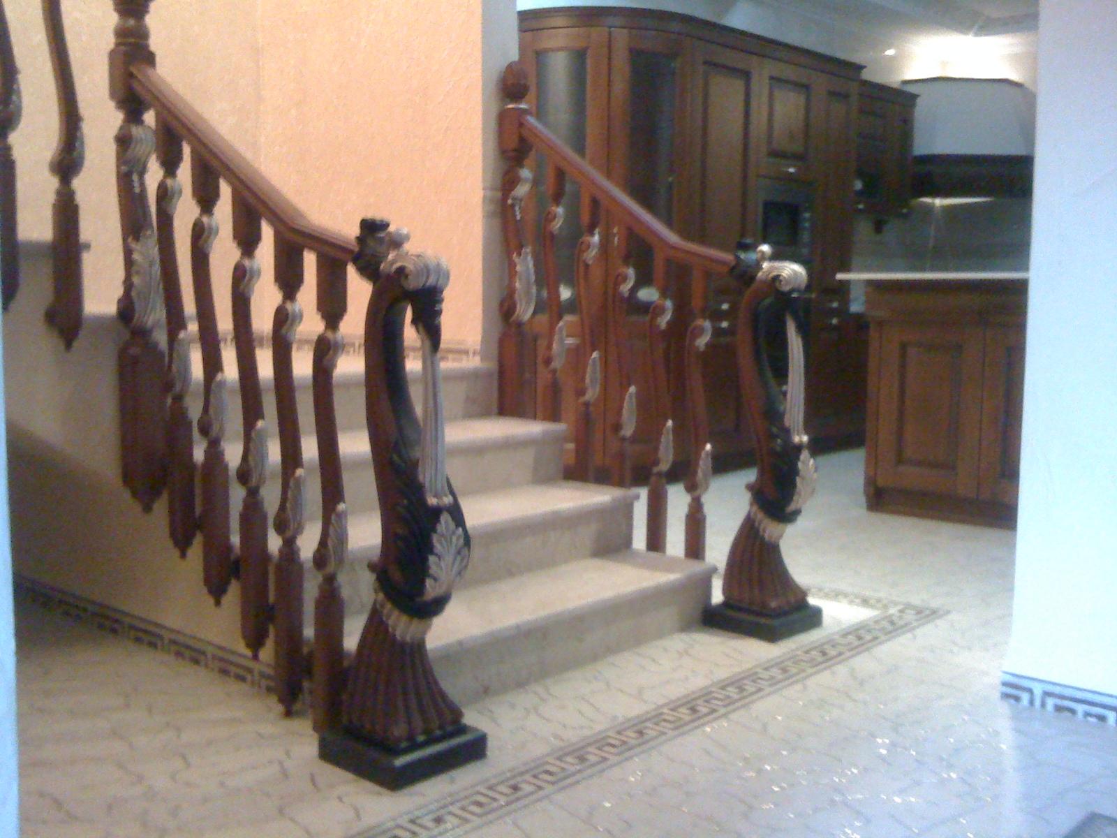 torneados munoz algerie rampes d escalier en bois mod. Black Bedroom Furniture Sets. Home Design Ideas