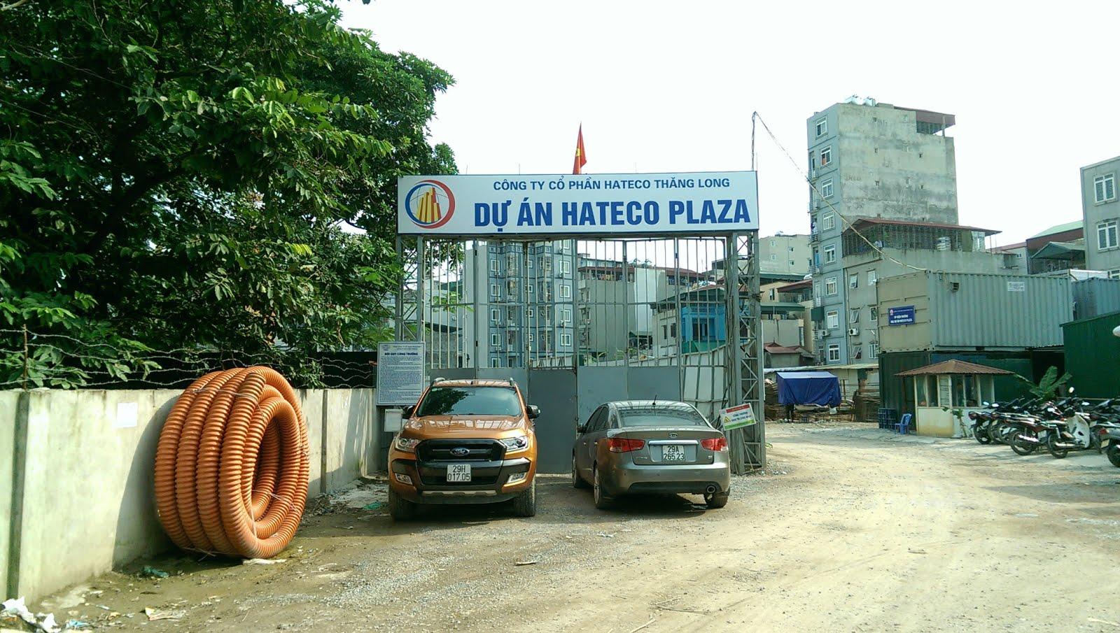 Tiến độ thi công dự án Hateco Plaza
