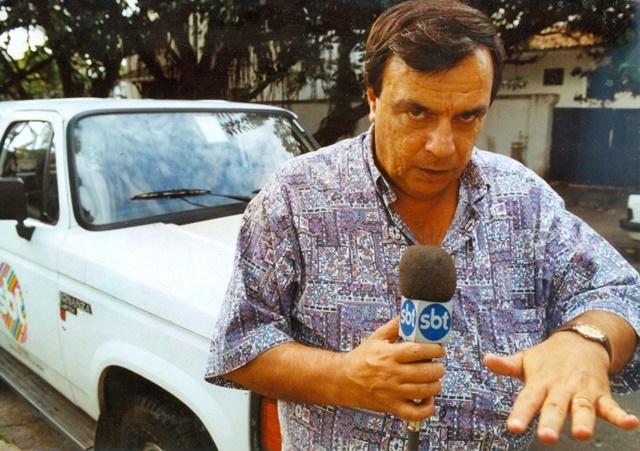 """Gil Gomes do """"Aqui e Agora"""", levado ao ar pelo SBT"""