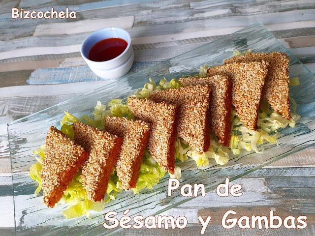 PAN DE SÉSAMO Y GAMBAS