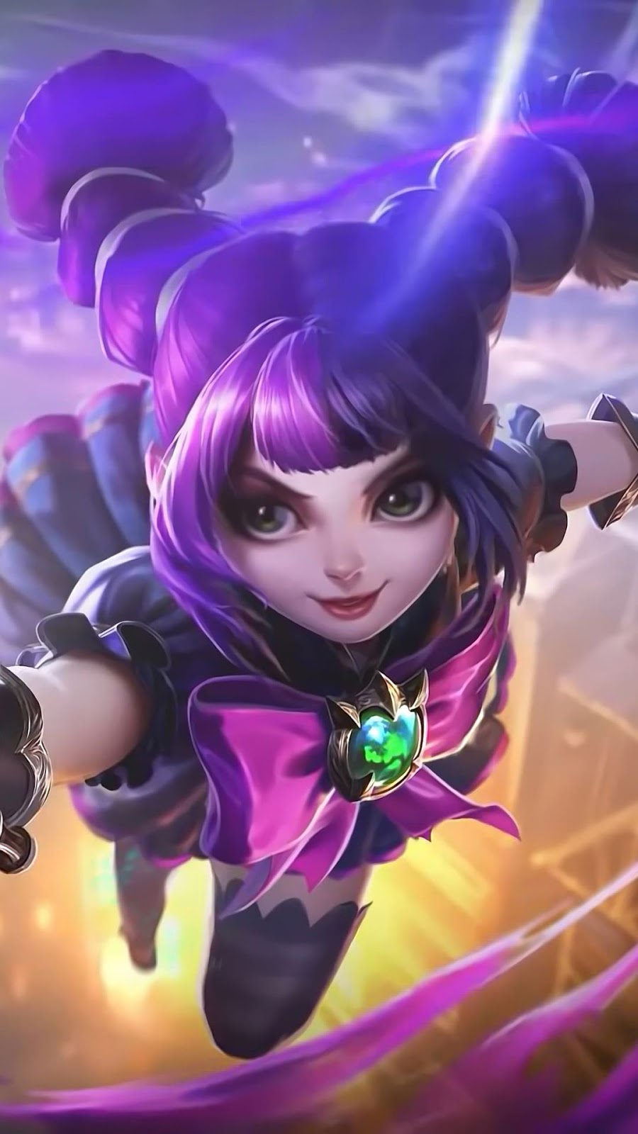 Wallpaper Lylia Little Wizard Skin Mobile Legends HD for Android and iOS