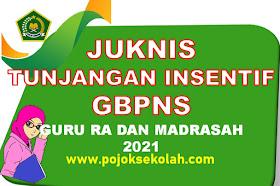 Juknis Tunjangan Insentif GBPNS Guru Madrasah Tahun 2021