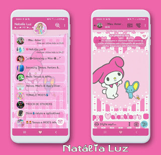 Melody & Red Theme For YOWhatsApp & Fouad WhatsApp By Natalia Luz