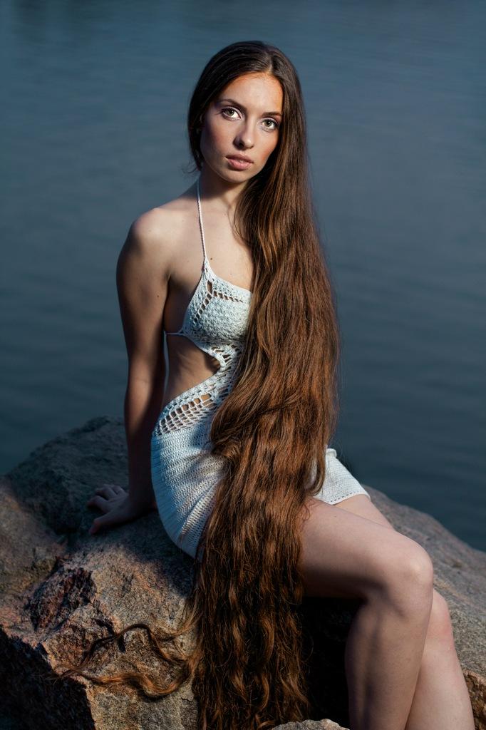 Hot girls long hair