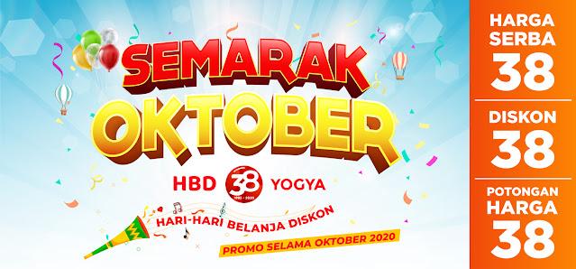 #YogyaSupermarket - #Promo Semarak Oktober HBD ke-38 Yogya (s.d 31 Okt 2020)
