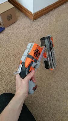 Súng đồ chơi Nerf Hammershot độ chế súng cao bồi 1