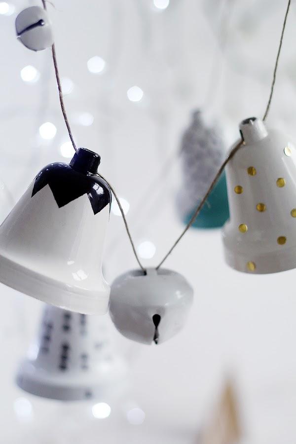 Campanas de Navidad DIY
