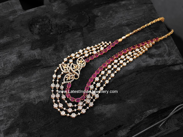 Contemporary Diamond Ruby Mala