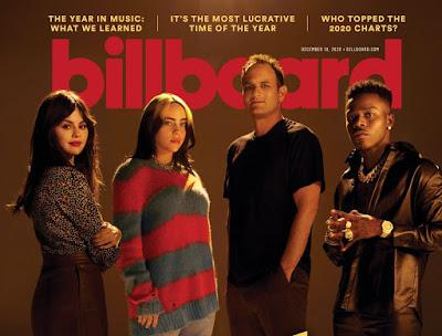 Billie Eilish, Selena Gomez, & DaBaby Star On Billboard Cover Along W/ Interscope Head John Janick.