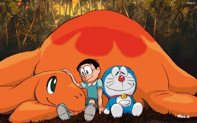 Doraemon And Nobita Sleeping on Dragon HD Wallpapers