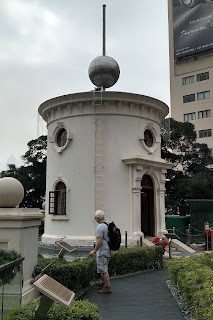 Tower with ball on pole above it