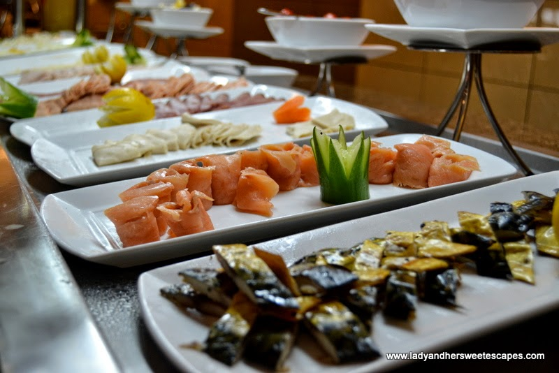 breakfast starters at The Ajman Palace