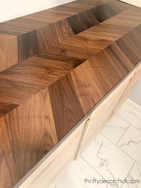 Ikea herringbone butcher block