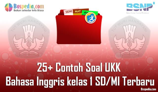 25+ Contoh Soal UKK Bahasa Inggris kelas 1 SD/MI Terbaru