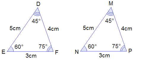 triangles DEF and MNP