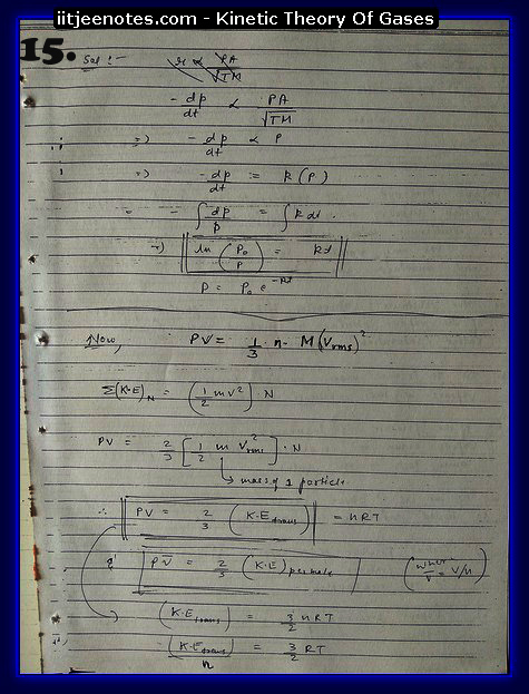 Kinetic Theory Of Gases15