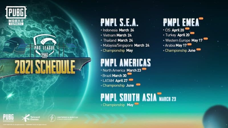 PUBG MOBILE ANNOUNCES BRAND NEW REGIONS FOR PMPL AND A NEW WORLD CLASS TOURNAMENT