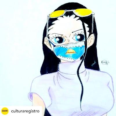 Uso de máscara é tema de atividade online da Oficina de Mangá emRegistro-SP