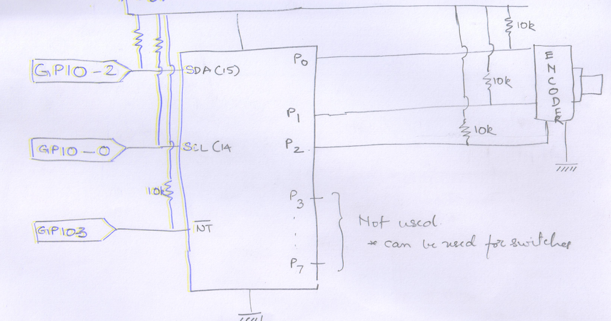 Interfacing rotary encoder (using I2C port expander)   Braindump of