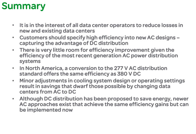 A Comparison of AC and DC Power Distribution in the Data Center Answers| ENERGY UNIVERSITY COURSES
