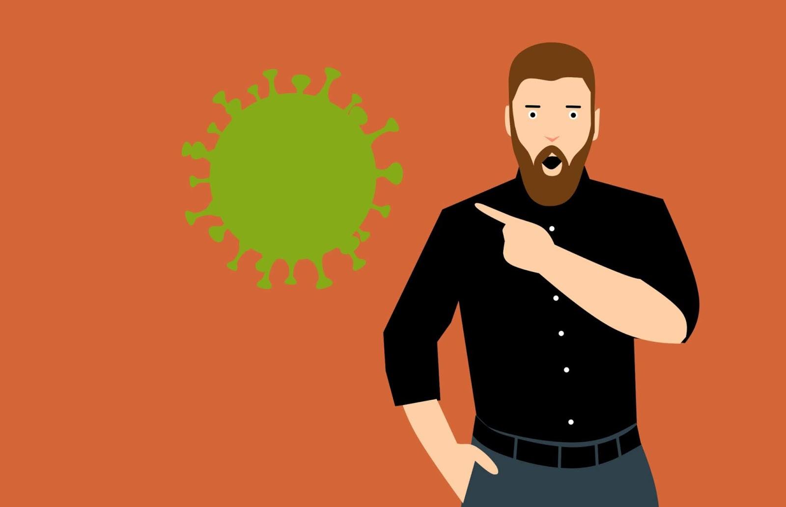 illustrations of fear of corona virus